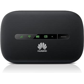 Huawei E5330 mobiler HSPA+ Hotspot noir - WiFi Hotspot pour 10 Geräte, jusque á 21,6MBit/s Download, 5,76MBit/s Upload, HSPA+