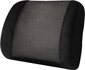 KosmoCare Memory Foam Lumbar Support Cushion for Back Pain Relief Ideal for Sofa, Car, Office Chair
