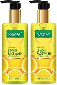 Vaadi Herbals Pack Of 2 Pure Honey Lemon Face Wash With Jojoba Beads, 250 ml (Pack of 2)