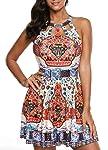 Gihorry Women's 2Pcs Tankini Boho Bikinis Sets Cut Out Swimsuits Tribal Floral Swimwear Coverups Beachwear Strappy...