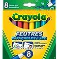 Crayola - 8 Feutres à colorier effaçables (pointe large) - boîte française - Loisir créatif - feutres et accessoires fantaisi