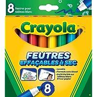 Crayola - 8 Feutres à colorier effaçables (pointe large) - boîte française - Loisir créatif - feutres et accessoires…