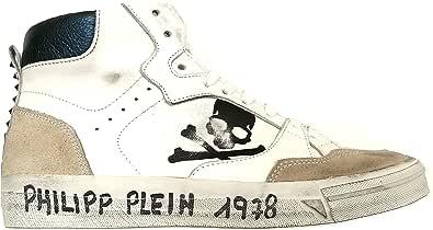 PHILIPP PLEIN Scarpe Uomo Sneakers Stivaletto S19SMSC1703PLE009N Bianco