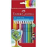 Faber-Castell 110912 - Farbstifte Jumbo GRIP, 12er Kartonetui