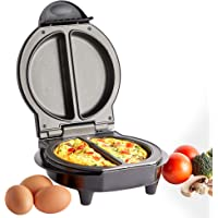 VonShef Appareil électrique à omelette à double compartiment avec fond antiadhésif facile à nettoyer pour une cuisson…