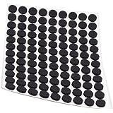 108 x antislippads van EPDM/celrubber, rond, Ø 10 mm, zwart, zelfklevend, antislip pads, intopkwaliteit (2,5 mm)