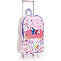 Peppa Pig Unicorn Suitcase for Girls, Kids Trolley Hand Luggage with 2 Wheels, Practical Carry On Suitcase, Children Toddlers Travel Bag with Pink Unicorn, Gifts for Girls Boys Age 3 +