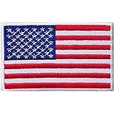Toppa ricamata con bandiera degli Stati Uniti d'America da cucire o stirare