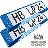 L P A167 2 Stk Kennzeichenhalter Auto Nummernschildhalter Chrom Vollchrom Kennzeichenverstärker Kennzeichenhalterung Nummernschildhalterung Verstärker Halter Für Kennzeichen Nummernschild Auto