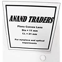 Anand traders 11mm plano convex lens with 21mm focal length for DIY telescope eyepiece