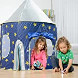 PIGLOO Kids Polyester Rocket Theme Play Tent House for Above 3 Years,105x135cm (Blue)