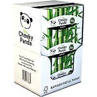The Cheeky Panda – Bamboo Facial Tissues | Bulk Box of 12 Packs (80 Tissues per Pack, 960 Tissues Total) | Flat Box, 3…