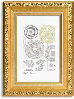 Deknudt Frames S45HA1 Cadre Photo avec Filet R/ésine Dor/é//Perl/é 13 x 13 cm