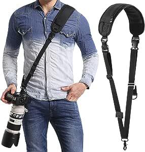 Waka Kameragurt Schnellverschluß Neopren Schwarz Kamera Kamera