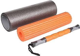 Burn 3 in 1 Foam Roller Set, Grey/Orange