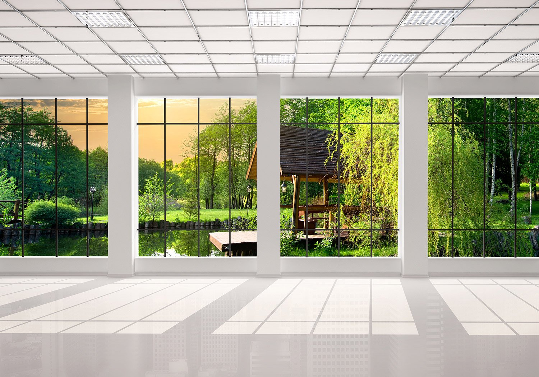 Fototapete fenster aussicht  Fototapete Fenster aussicht Tapete Kunstdruck Wandbild Vliestapete ...