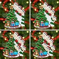 Ornement de décoration de boule d'arbre de Noël de famille personnalisé Groupes 2, 3, 4, 5, 6, 7, 8 et 9 (Peeking Family…