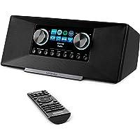MEDION P85289 Internetradio mit DAB+ (WLAN, UKW, Spotify Connect, Amazon Music, DLNA, USB, Kopfhörer-Anschluss, AUX, LAN…