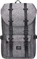 """KAUKKO Rucksack Studenten Backpack 17 Zoll für 15"""" Notebook Lässiger Daypacks Schüler Bag Schultaschen of 2 Side Pockets für Wandern Reisen Camping"""