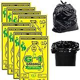 G 1 Garbage Bags / Dustbin Bags, Medium (19 X 21 Inches) - 30 Bags/Pack (Pack of 8, Black)