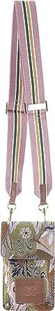 CODELLO Damen Handytasche, Magnetverschluss | Gobelin-Style | 100% Baumwolle Canvas | 17 x 10,5 x 2 cm