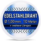 Edelstahldraht V2A - Ø 1,00 mm 10 Meter (0,60 EUR/m) Edelstahl Draht S304 AWG18 1,0 1