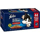 FELIX So gut wie es aussieht Katzenfutter nass in Gelee, Sorten-Mix, Großpackung 44er Pack (44 x 85g)