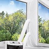 TOPOWN 300cm Guarnizione Universale per Finestra per Condizionatore Portatile con Due Set di Cerniere Facile Installazione Ne