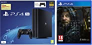 Sony PS4 Pro 1TB Console with one Additional Controller Pasted Outside Box & PS4 Death Stranding (PS4)