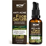 WOW Skin Science Anti Acne Face Serum - Natural Neem Leaf Oil, Tea Tree Oil, Caviar Lime Fruit Extract - Spot Therapy…