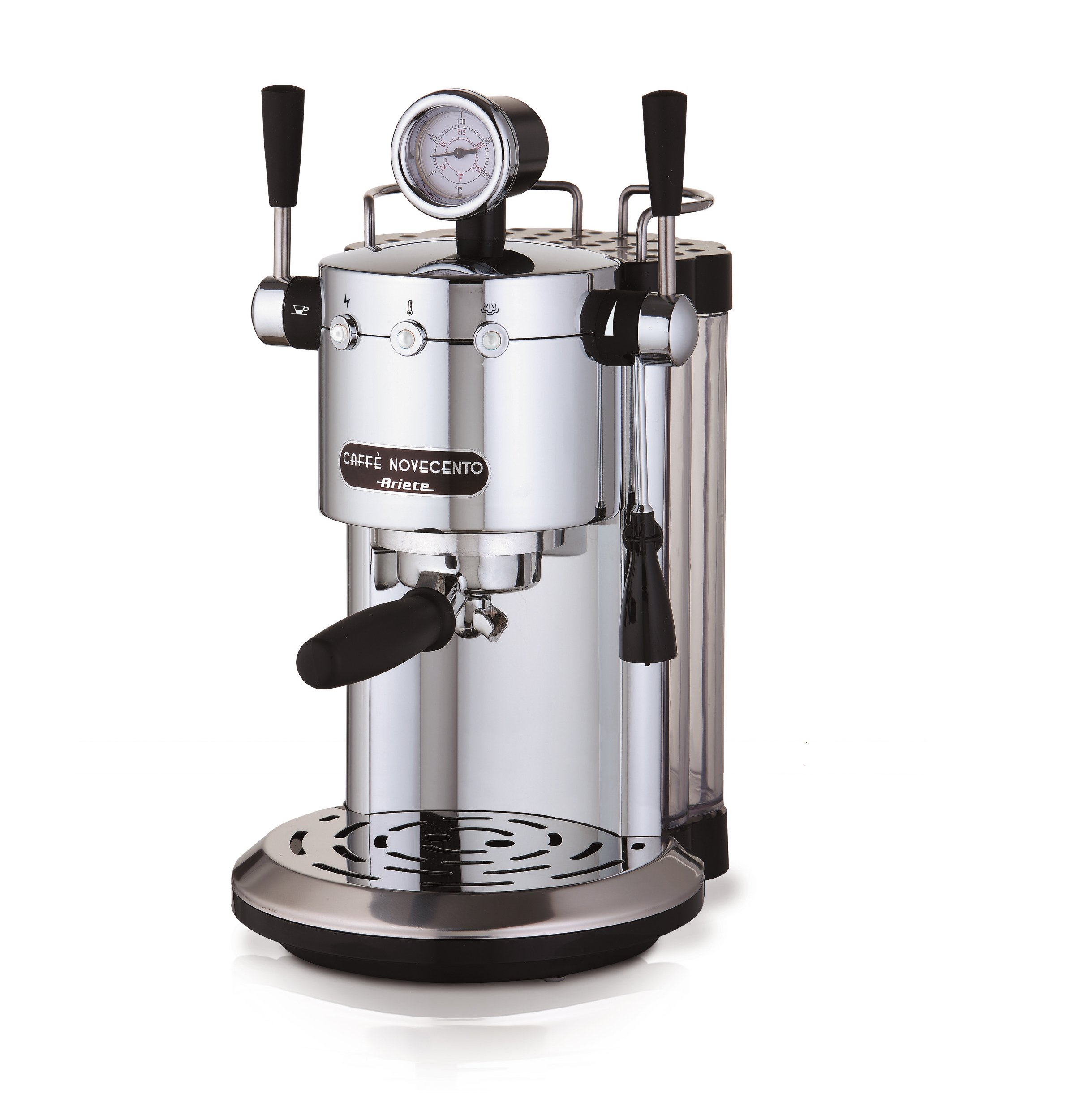 Ariete-1387-138720-Kaffeevollautomat-Novecento-Espresso-Cappuccino-Vano-Scalda-Becher-1100-W-2-Tassen-15-bar-Chrom-Silberschwarz-1150-kilograms