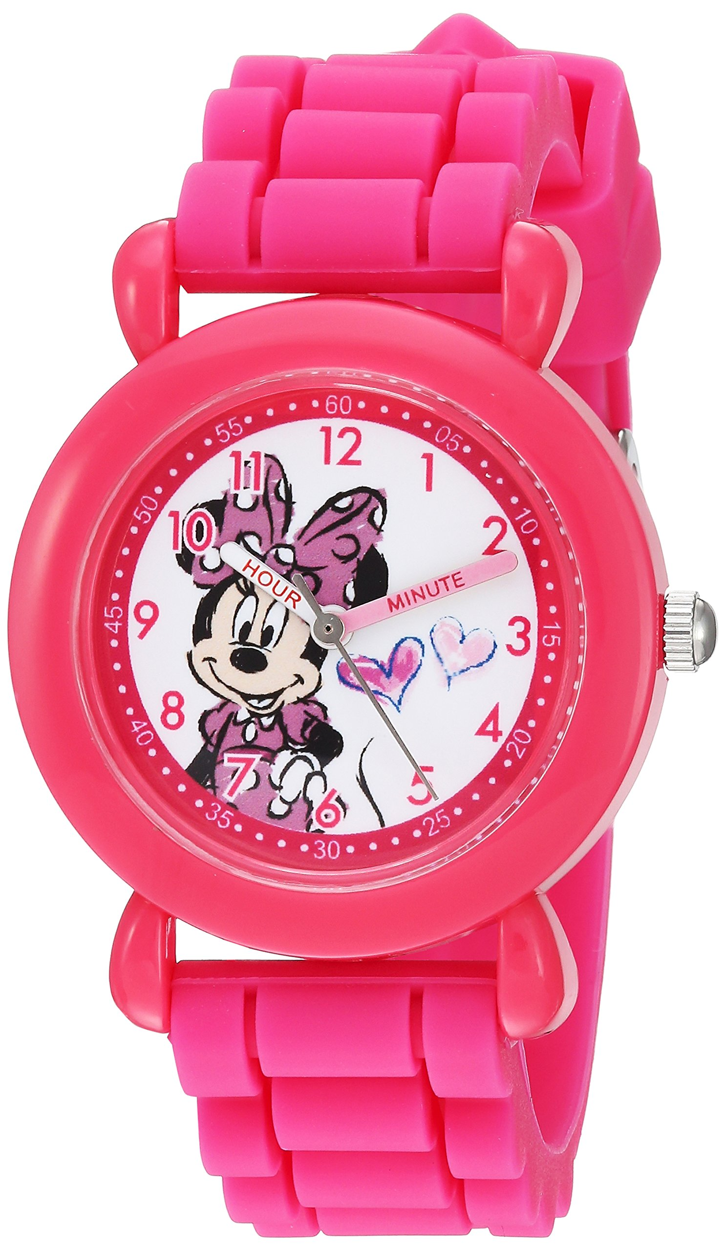 Disney Girl's Analog-Quartz Watch with Silicone Strap WDS000007