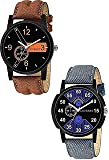 LEVERET Blue Black Dial Attractive Combo Pack of 2 Analog Watch - for Men