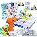 FORMIZON Mosaique Enfant Puzzle, 151 Pièces Jouet à Visser Mosaique Puzzle Jeu Construction Jouet Montessori Kit Mosaique pou