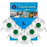 Atemschutzmaske FFP2 NR D mit Ventil 5er | KN 95 | Masken für Mund und Nasenschutz | Premium Atemmaske Perfekt…