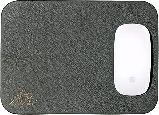 Mousepad der Marke Centaur, 25x18, handgefertigt, Leder, flaschengrün