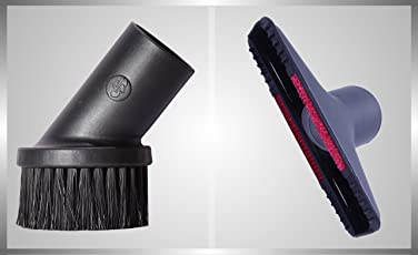 Rodak Finest Combo Accessory For Vacuum Cleaner - Brush(Furniture Round) And Upholstery Nozzle (Black)