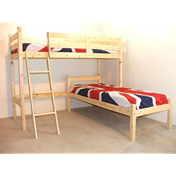 L Shaped 3ft Bunkbed Wooden Lshaped Bunk Bed For Kids Fast