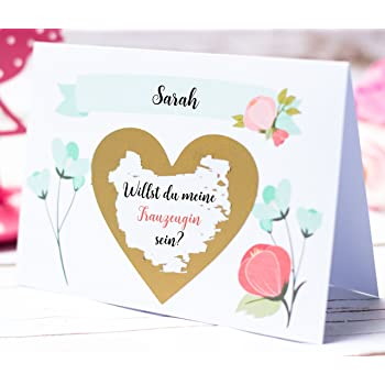 Happy Wedding Art Rubbellos Karte Rubbelkarte Name Trauzeugin Beste
