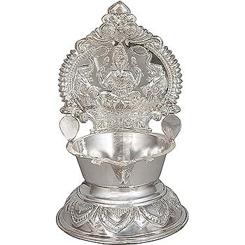 Rajasthan Emporium And Handicrafts Pure Silver 25-27 Grams Kamakshi Lakshmi Ma Diya Lamp/ Silver Article Silver Gift