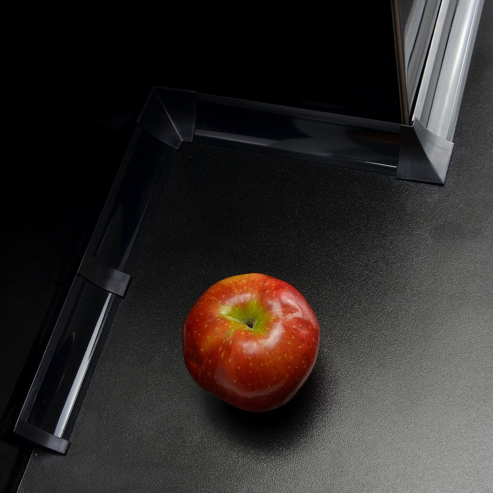 IMPOSTATO 23 mm PVC cucina piano di lavoro bordatura accessori colore: nero