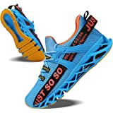 JSLEAP Mens Running Shoes Fashion Non Slip Athletic Tennis Walking Blade Sneakers
