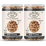 Healthy Treat Gur Chana 400 gm ( Pack of 2 - 200 gm Each ) | Jaggery Coated Chana | Immunity Booster