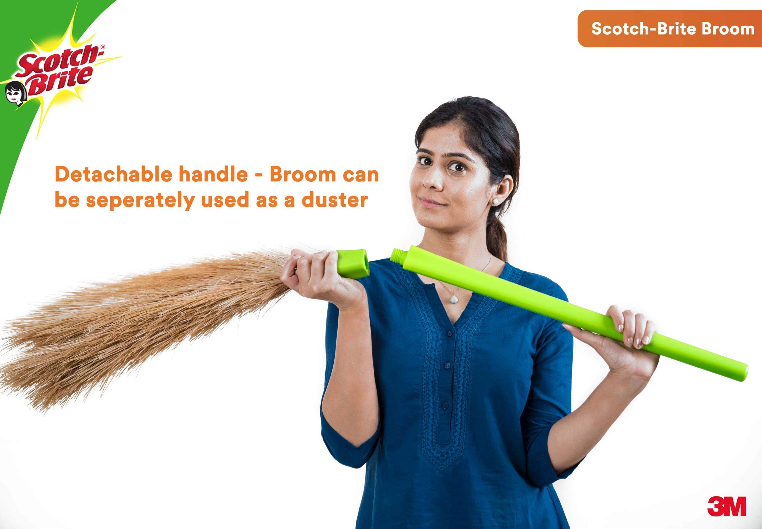 Scotch-Brite Fibre Broom (Green) | Brooms, Cleaning Supplies