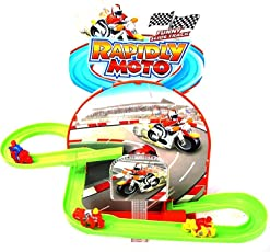 Bike Track Racer Magical Bikes Flying Through Tracks with Rotating 3D Lights & Sound