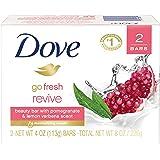 Dove go fresh Beauty Bar, Pomegranate and Lemon Verbena 4 oz, 2 Bar