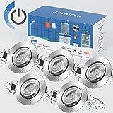 Wowatt LED Spot Encastrable Dimmable IP44 Salle de Bain 7W Equi. 70w Ampoule Halogène 6000K Blanc Froid 700LM Plafonnier Spot
