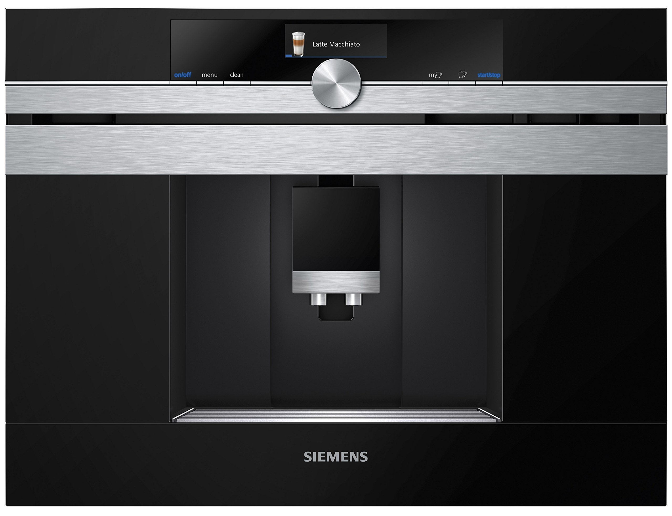 Siemens CT636LES1 iQ700 Einbau-Kaffeemaschine, Kaffeevollautomat, sensoFlow System, OneTouch, calc'nClean, autoMilk Clean
