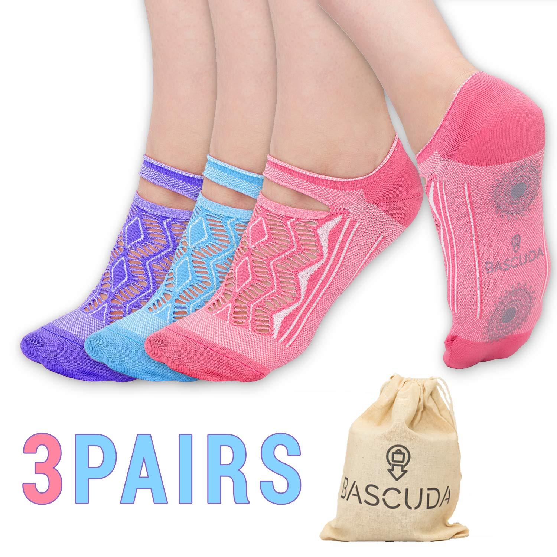 Anti-Rutsch-Socken weiche rutschfeste Socken mit Griffen Anti-Rutsch-Pilates-Socken Yoga-Socken f/ür Frauen