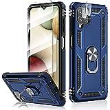 HATOSHI Funda con Samsung Galaxy A12 5G, con 2 Piezas Protector de Pantalla +2 Piezas Protector de Lente de Cámara, [Armor Gr